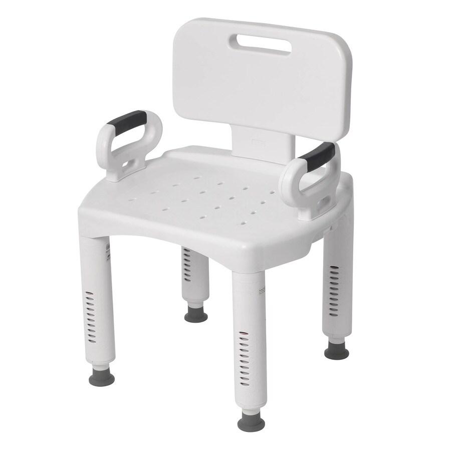 Drive Medical White Plastic Freestanding Shower Chair