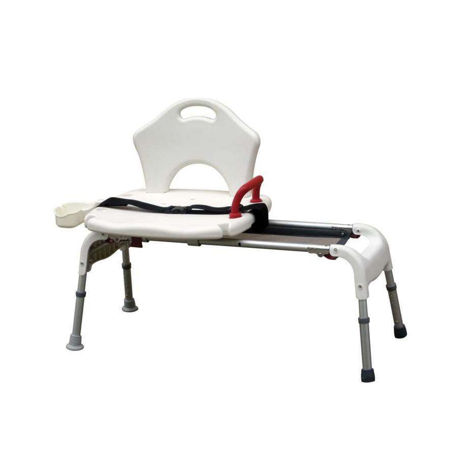 Drive Medical White Plastic Freestanding Transfer Bench
