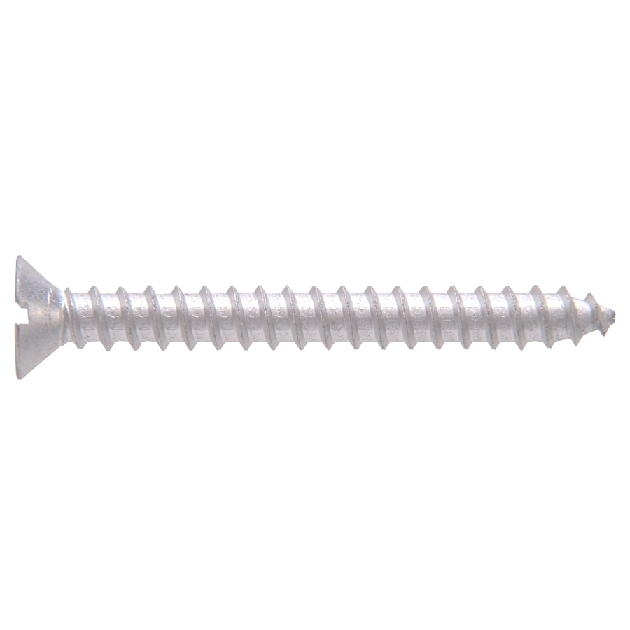 The Hillman Group 30-Count #8 x 1.25-in Flat-Head Aluminum Slotted-Drive Interior/Exterior Wood Screws