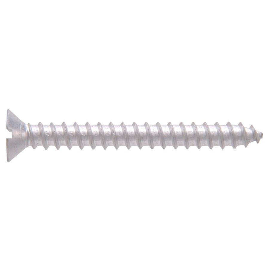 The Hillman Group 18-Count #10 x 1.25-in Flat-Head Aluminum Slotted-Drive Interior/Exterior Wood Screws