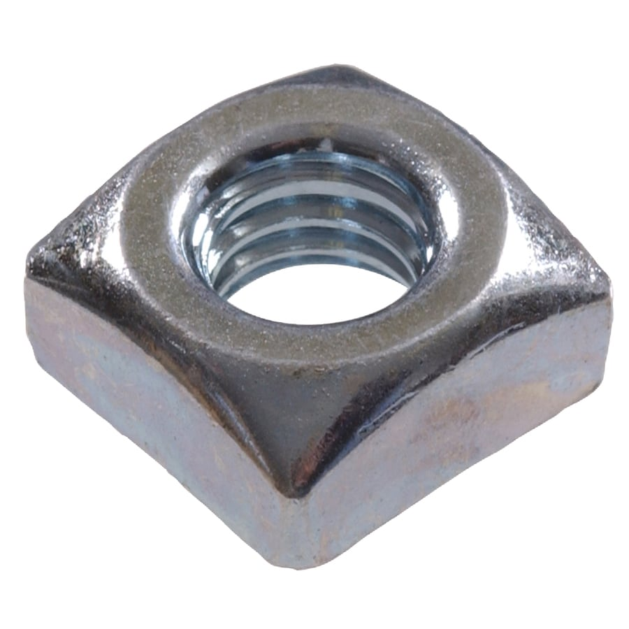 The Hillman Group 12-Count 7/16-in Zinc-Plated Steel Square Nuts