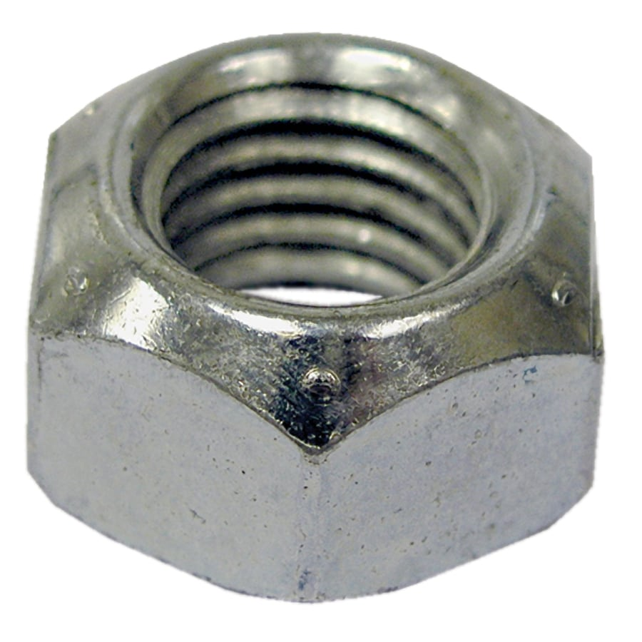 The Hillman Group 10-Count 7/16-in Zinc-Plated Standard (SAE) All Metal Lock Nuts