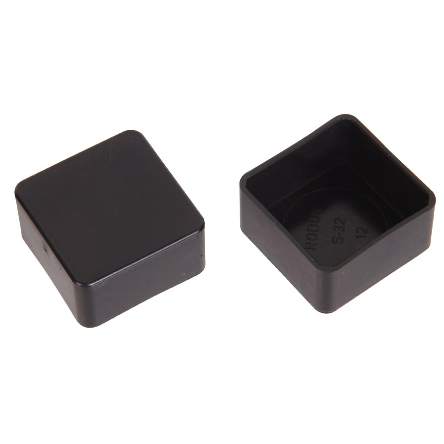 The Hillman Group 2-Pack 1-in x 1/2-in Black Plastic End Caps