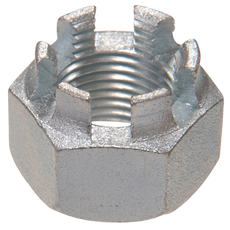 The Hillman Group 10-Count 1-in Zinc-Plated Standard (SAE) Castle Nuts