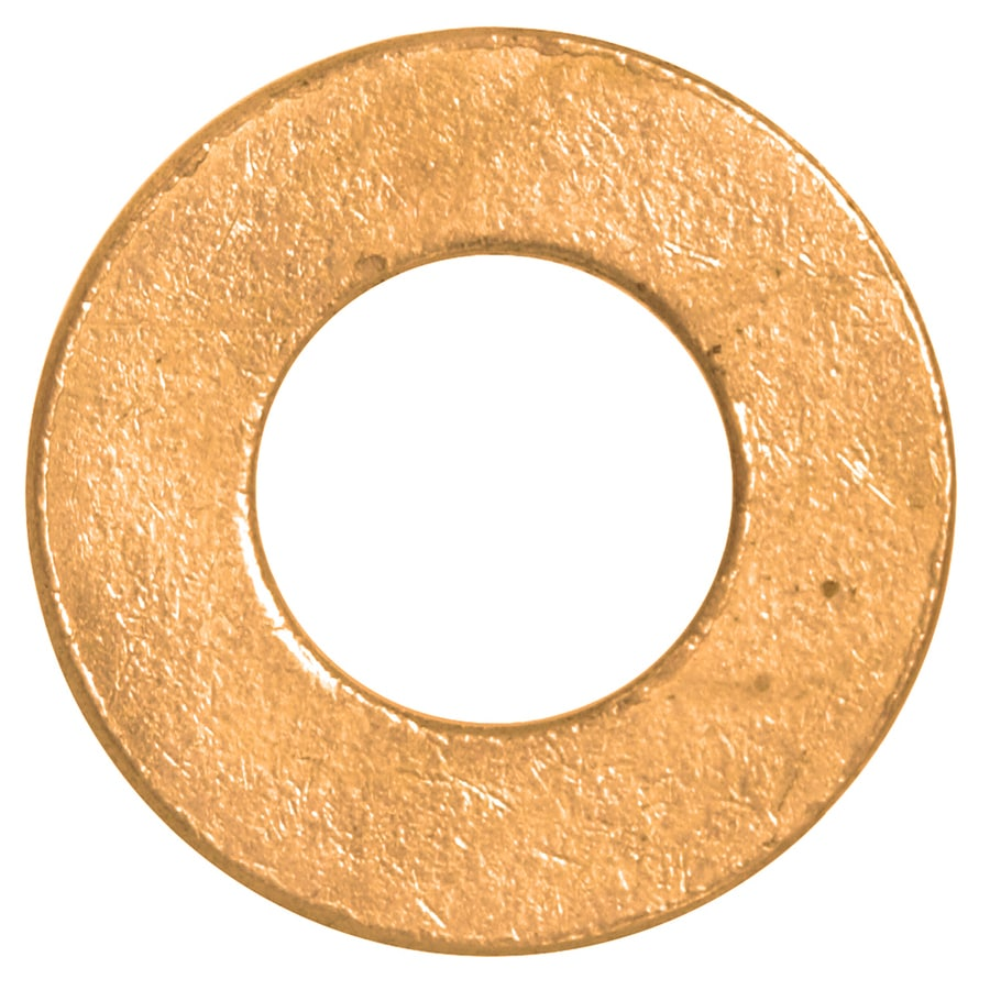 The Hillman Group 100-Count #8 Brass Standard (SAE) Flat Washers