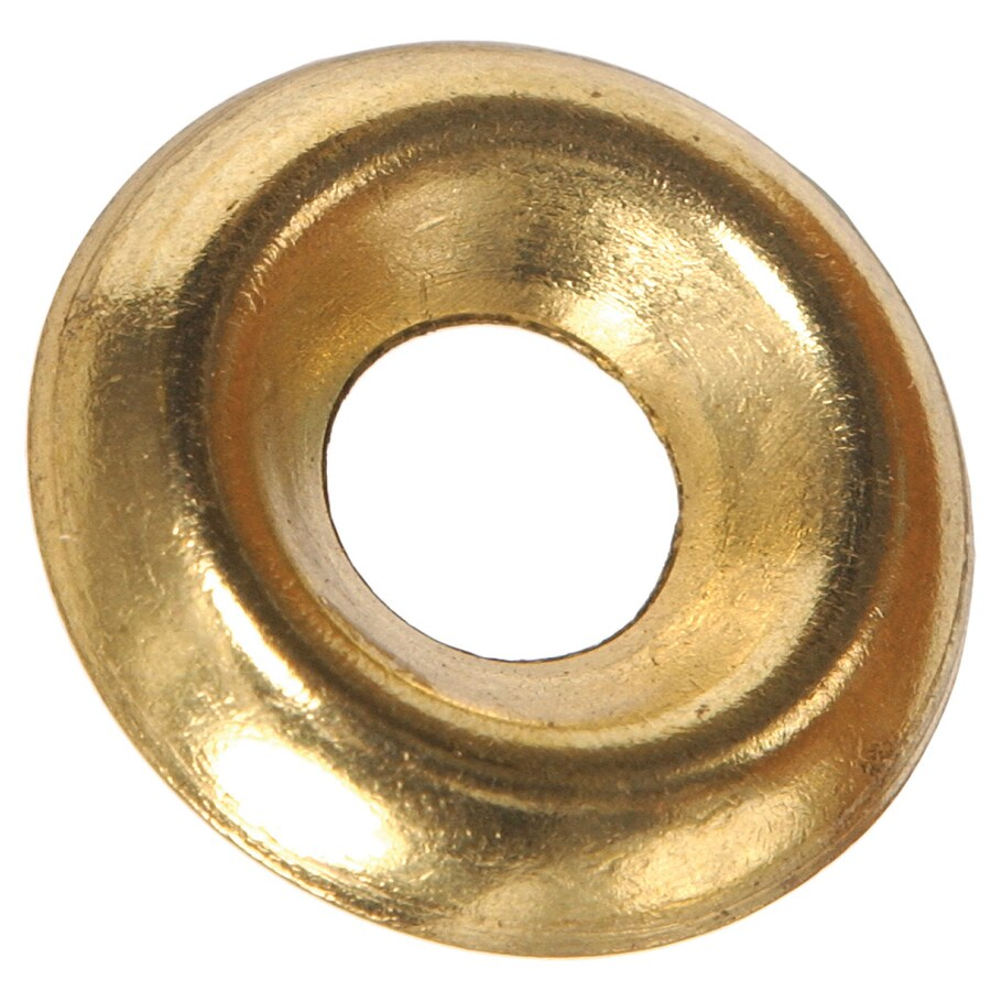 The Hillman Group 100-Count #4 Brass Standard (SAE) Finishing Washers