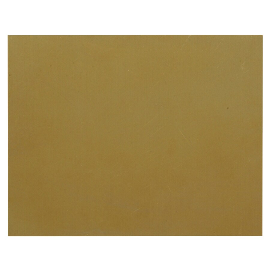The Hillman Group 4-in x 0.42-ft Brass Sheet Metal