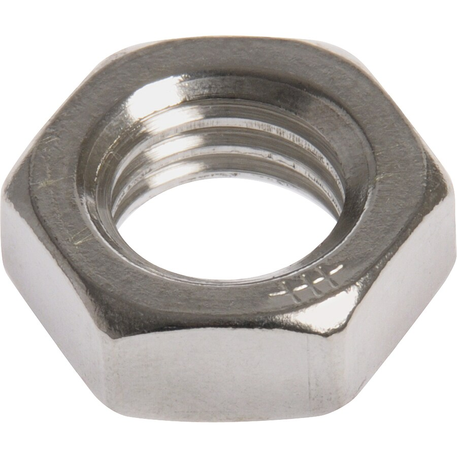 The Hillman Group 100-Count 3/8-in Stainless Steel Standard (SAE) Jam Nuts