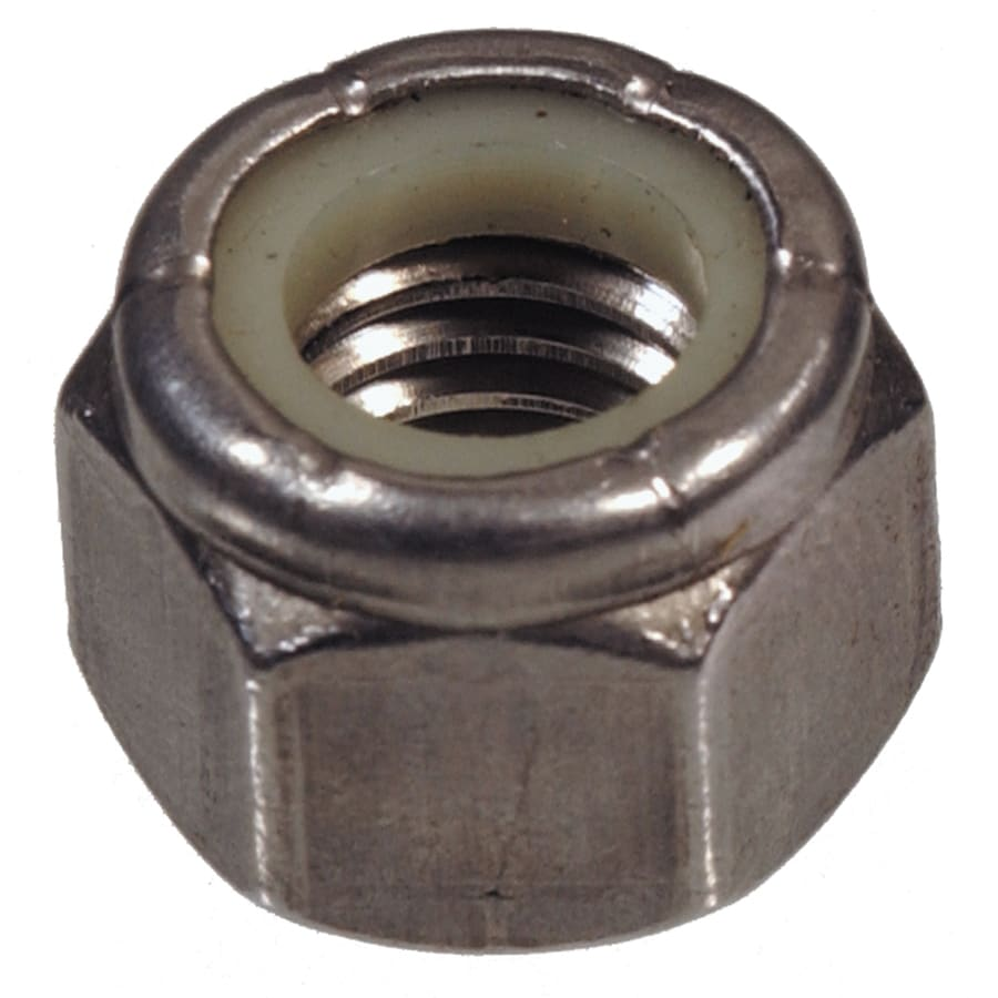 The Hillman Group 100-Count #4 Stainless Steel Standard (SAE) Nylon Insert Lock Nuts