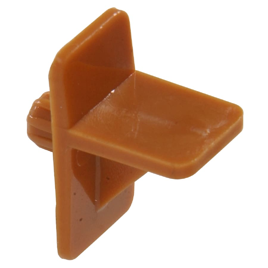 The Hillman Group 15-Pack 0.25-in Tan Square Shelving Hardware