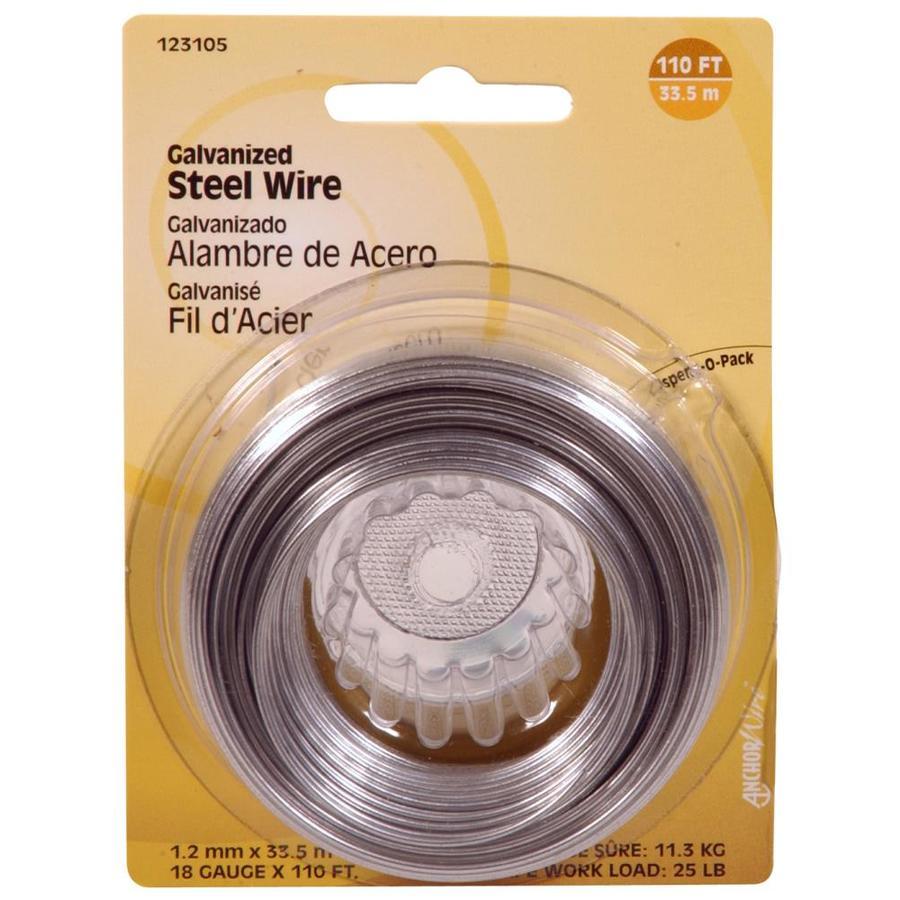 Anchor Wire 18-Gauge Steel Wire Picture Hanger