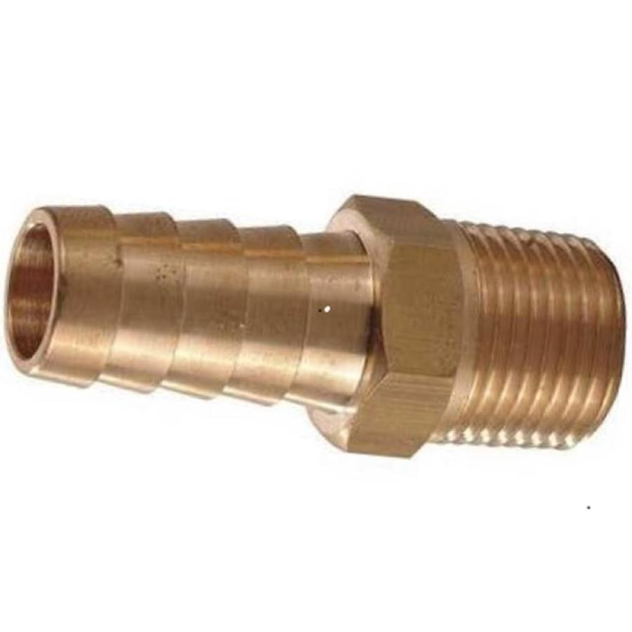 The Hillman Group 6-Pack 3/16-in x 1/4-in Threaded Barb x MIP Adapter Fittings