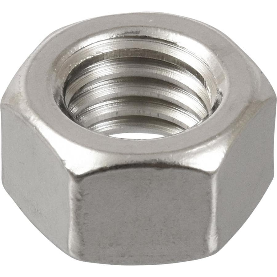 The Hillman Group 25-Count 7/16-in Stainless Steel Standard (SAE) Hex Nuts