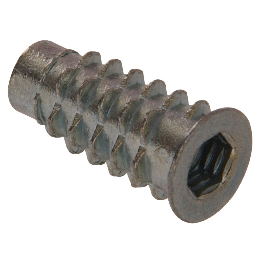 The Hillman Group 12-Count 1/4-in x 0.51-in Zinc Plated Standard (SAE) Flange Insert Nuts