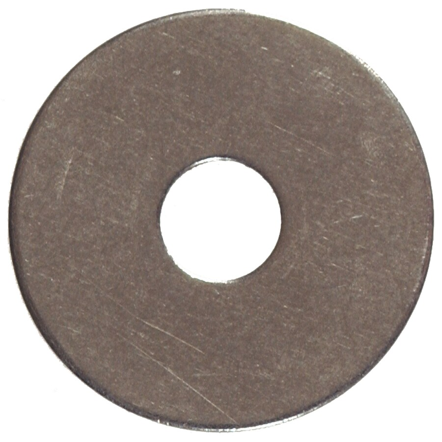 The Hillman Group 100-Count 1/4-in x 1-1/2-in Stainless Steel Standard (SAE) Fender Washers