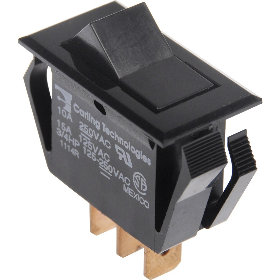The Hillman Group 3-Pack Double Pole Black Light Switches