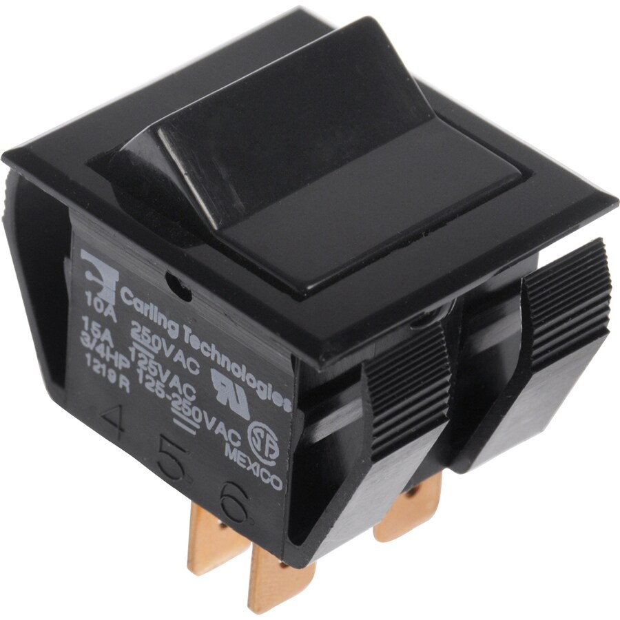 The Hillman Group 2-Pack Double Pole Black Light Switches