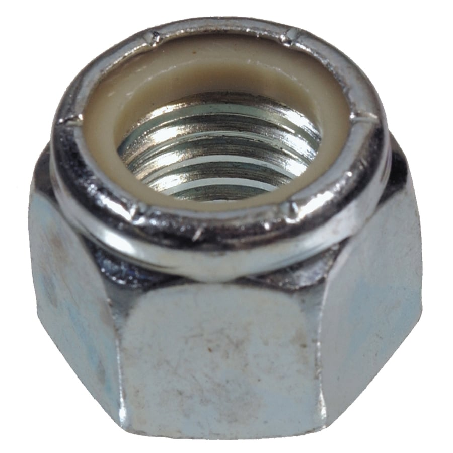 The Hillman Group 7-Count 7/16-in Yellow Zinc Standard (SAE) Nylon Insert Lock Nuts