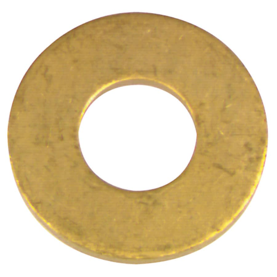 The Hillman Group 10-Count #8 x S Brass Standard (SAE) Flat Washer