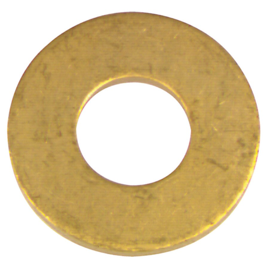 The Hillman Group 6-Count #14 x S Brass Standard (SAE) Flat Washer