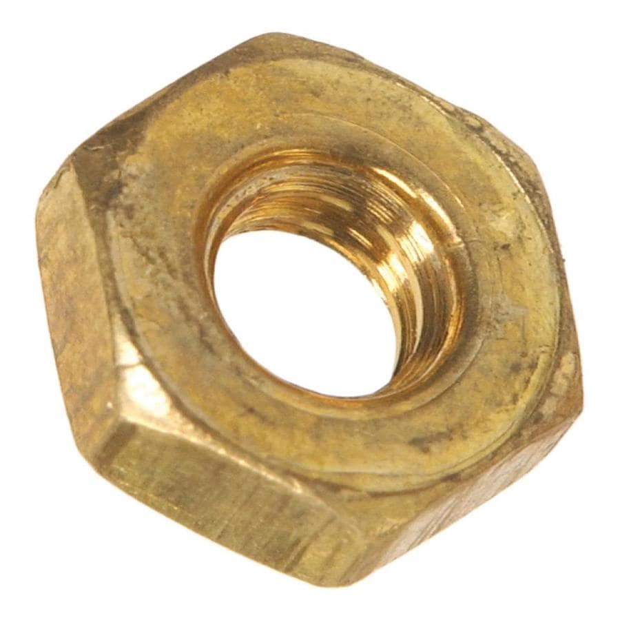 The Hillman Group 4-Count #6-32 Brass Standard (SAE) Hex Nuts