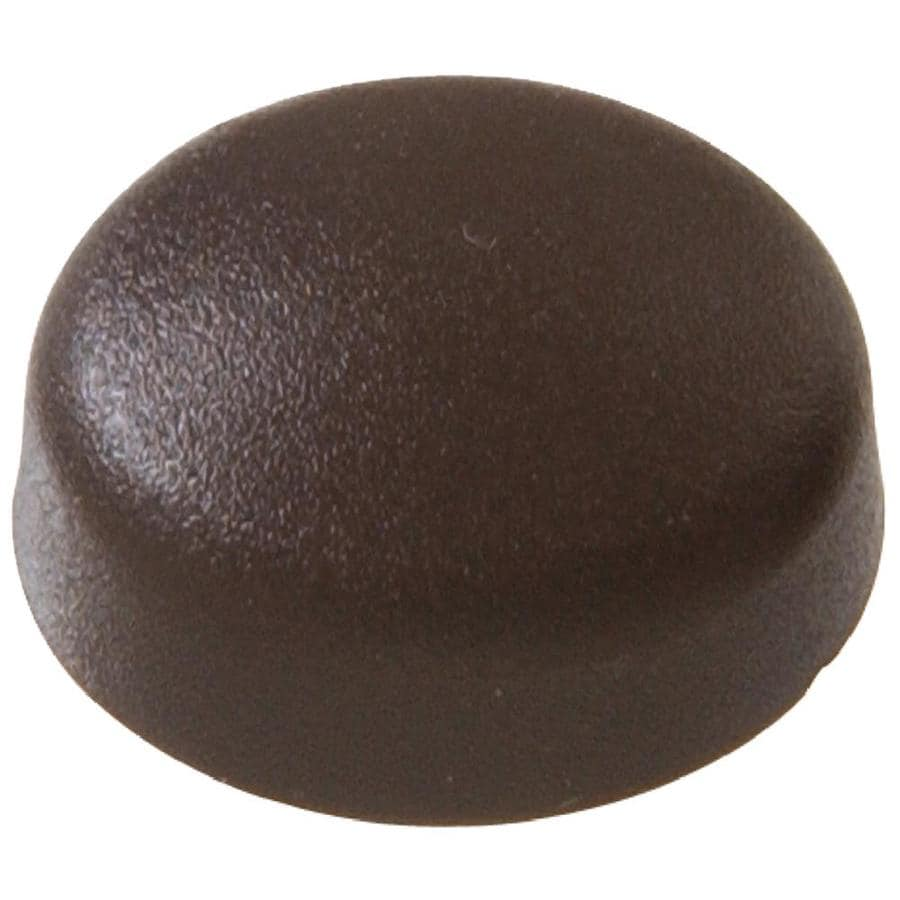 The Hillman Group 1/2-in x 1/8-in Brown Plastic End Cap