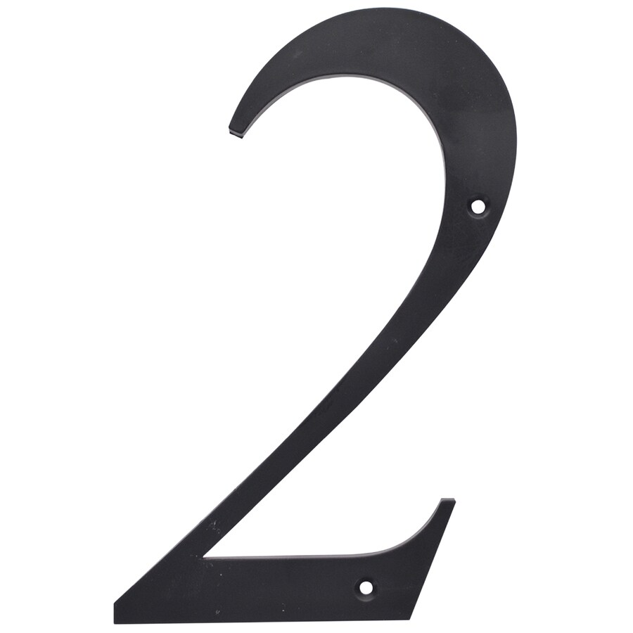 The Hillman Group 6-in Matte Black House Number #2