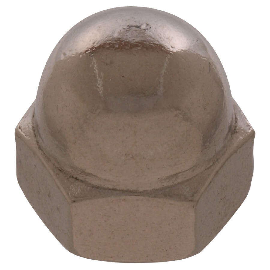 The Hillman Group 4-Count 5/16-in Stainless Steel Standard (SAE) Cap Nuts