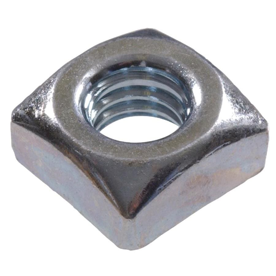 The Hillman Group 4-Count 1/4-in Zinc-Plated Steel Square Nuts