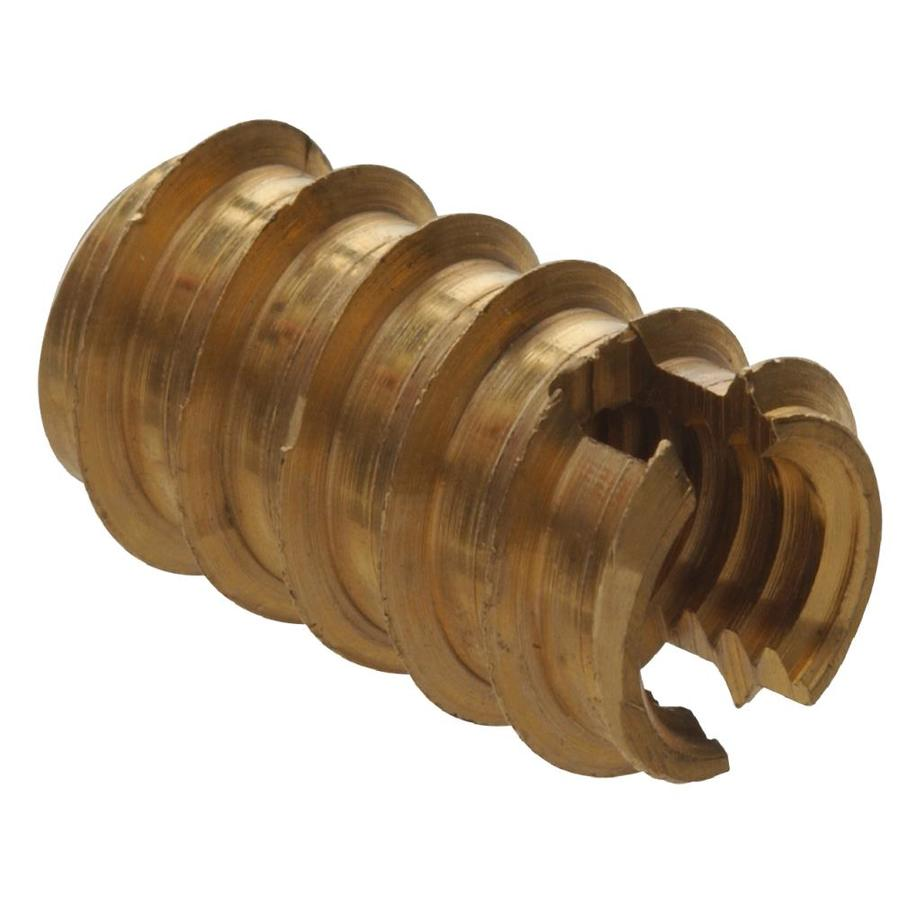The Hillman Group 2-Count #6 Brass Standard (SAE) Wood Insert Lock Nut