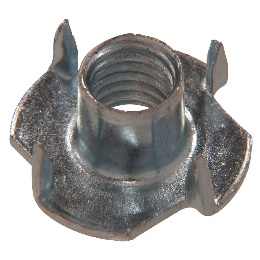 The Hillman Group 8-Count 6mm Zinc-Plated Metric 4-Prong Tee Nuts