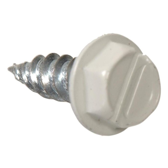 The Hillman Group The Hillman Group 1023 Zinc Hex Washer Head Slotted Sheet Metal Screw 6 x 3//8 In 60-Pack