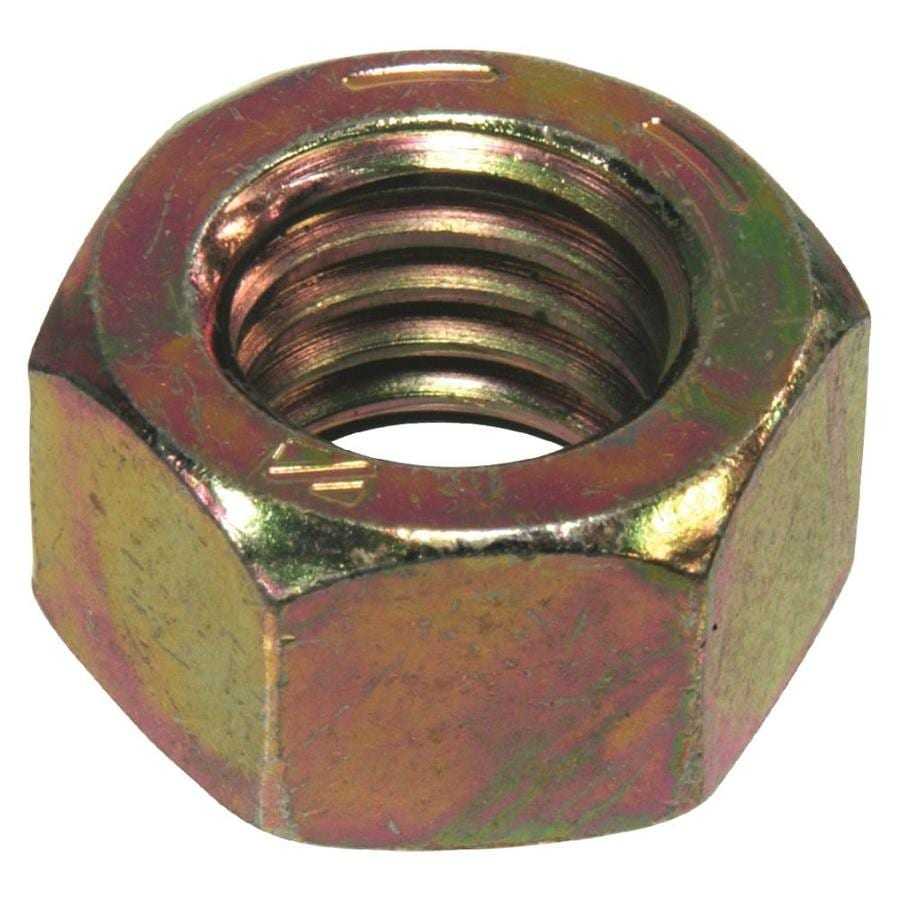 The Hillman Group 4-Count 1/4-in Yellow Zinc Standard (SAE) Hex Nuts