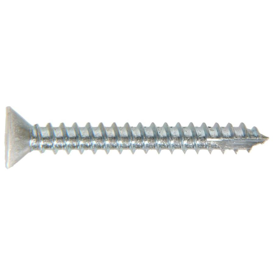 The Hillman Group 6-Count #9 x 1-in Flat-Head Zinc-Plated Interior/Exterior Wood Screws