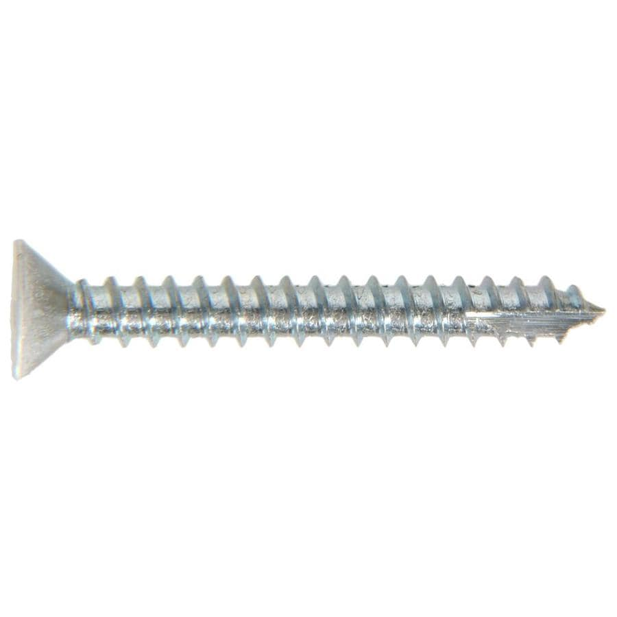 The Hillman Group 6-Count #9 x 1.5-in Flat-Head Zinc-Plated Interior/Exterior Wood Screws