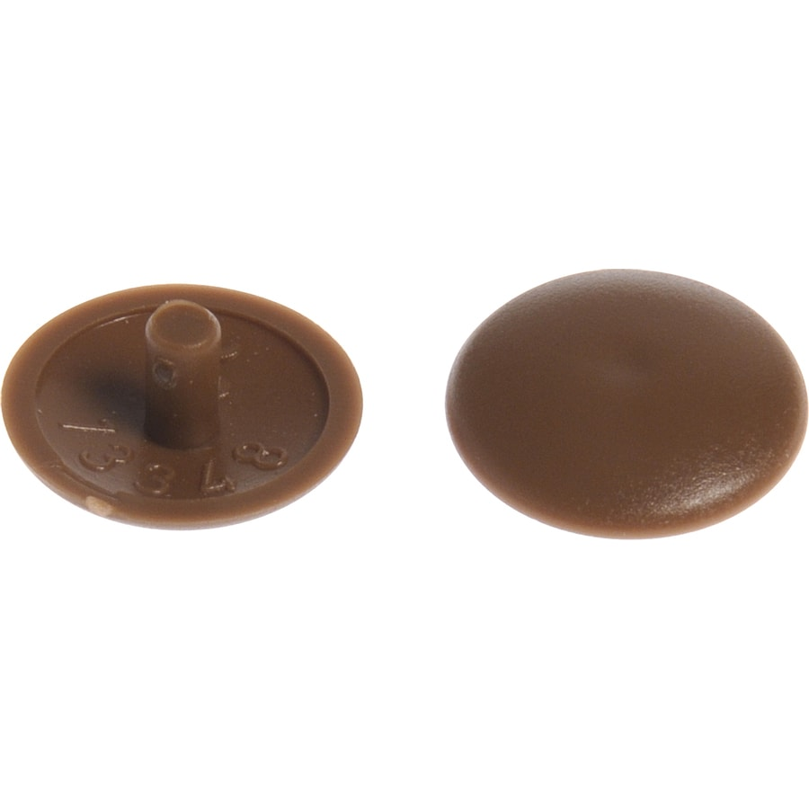 The Hillman Group 8-in x 1/4-in Brown Plastic End Cap