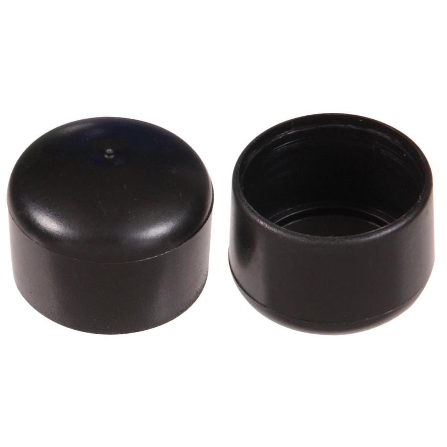 The Hillman Group 2-Count 7/8 Black Smooth Caster Cups