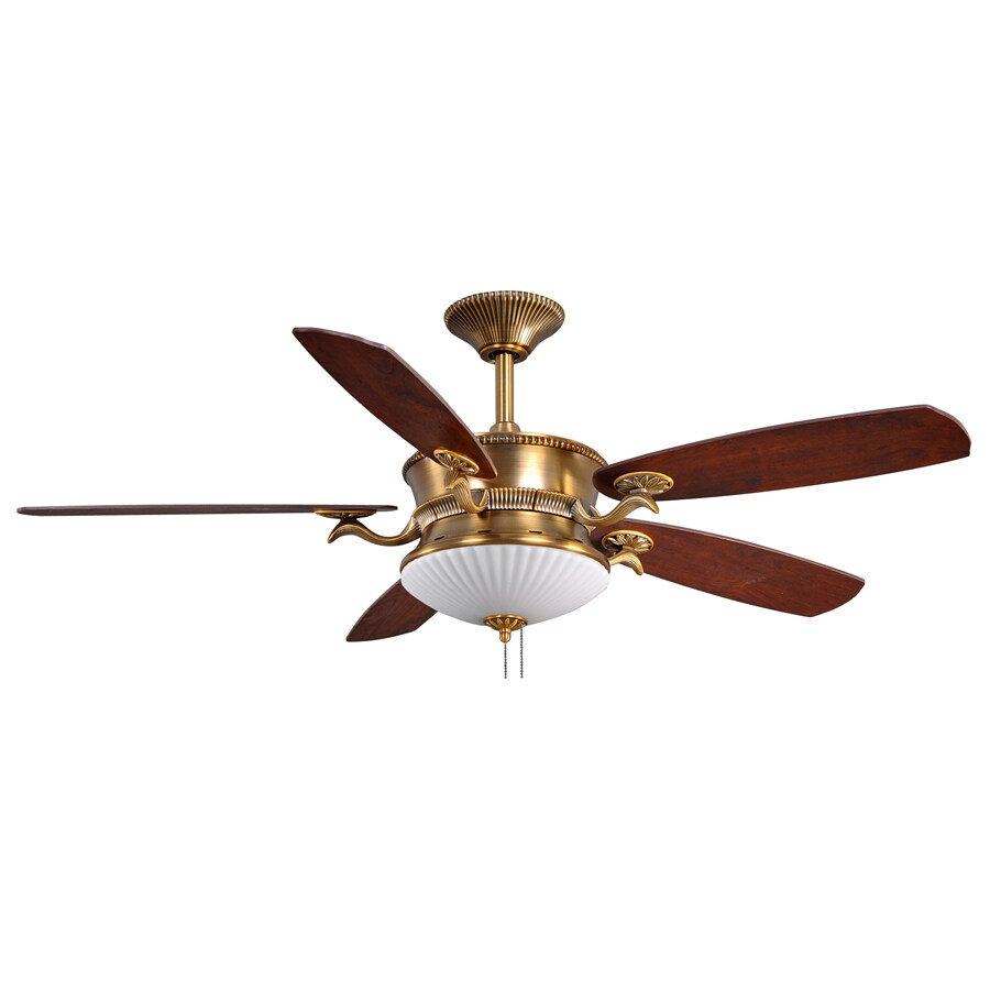 Sea Gull Lighting 52-in Penhill Weathered Brass Ceiling Fan with Light Kit