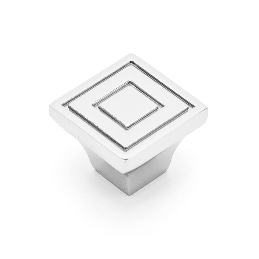 RK International Polished Nickel Square Cabinet Knob