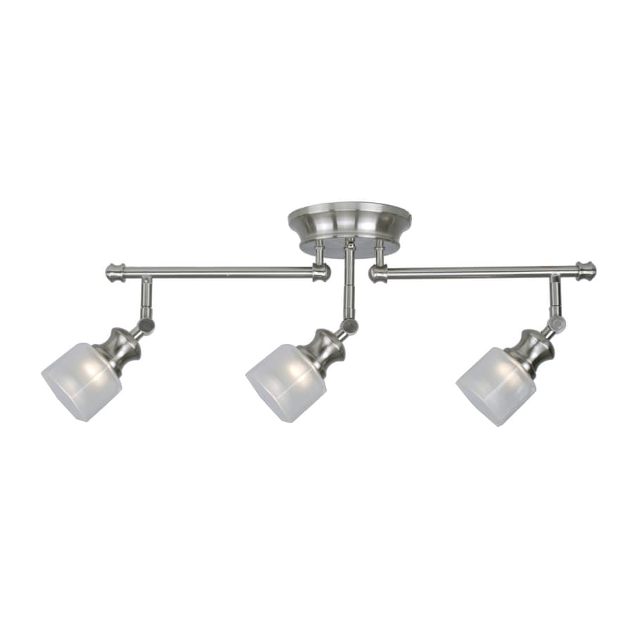 Shop Allen Roth 3 Light Brushed Nickel Fixed