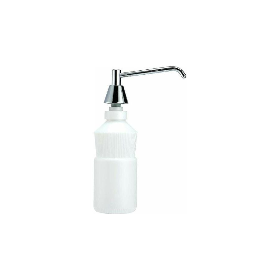 PSISC Bright Stainless Steel Plastic Pump Commercial Soap Dispenser