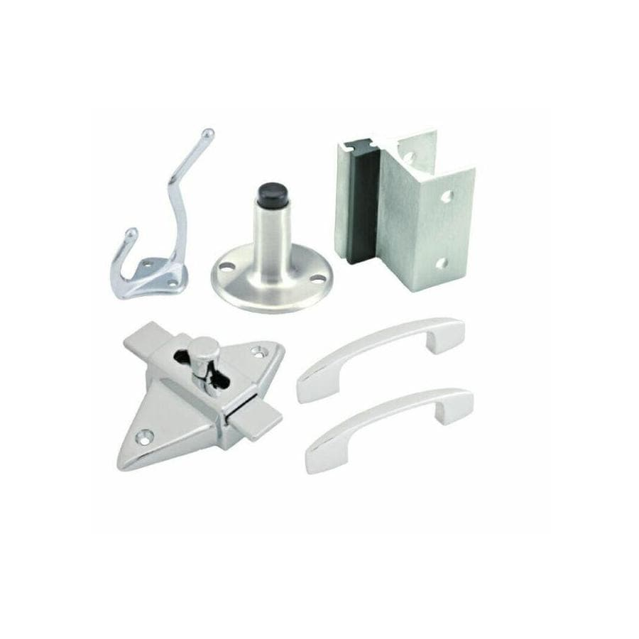 PSISC Chrome Out-Swing Latch Set