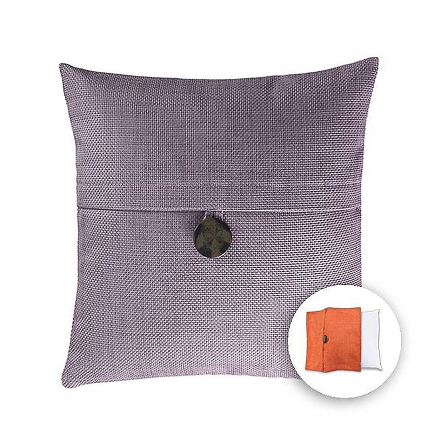 Decorative Pillow Covers Lowes : Shop allen + roth 18-in W x 18-in L Purple Square Indoor Decorative Pillow Cover at Lowes.com