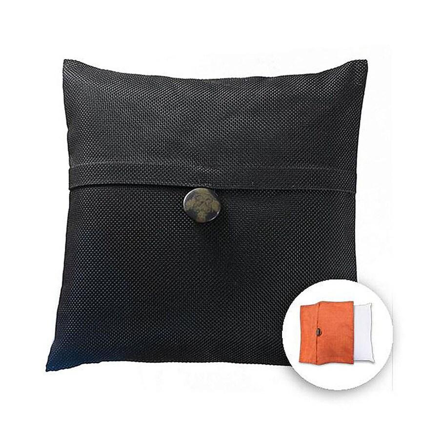 allen + roth 18-in W x 18-in L Black Square Indoor Decorative Pillow Cover