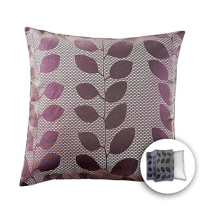 Shop allen + roth 18-in W x 18-in L Purple Square Indoor Decorative Pillow Cover at Lowes.com