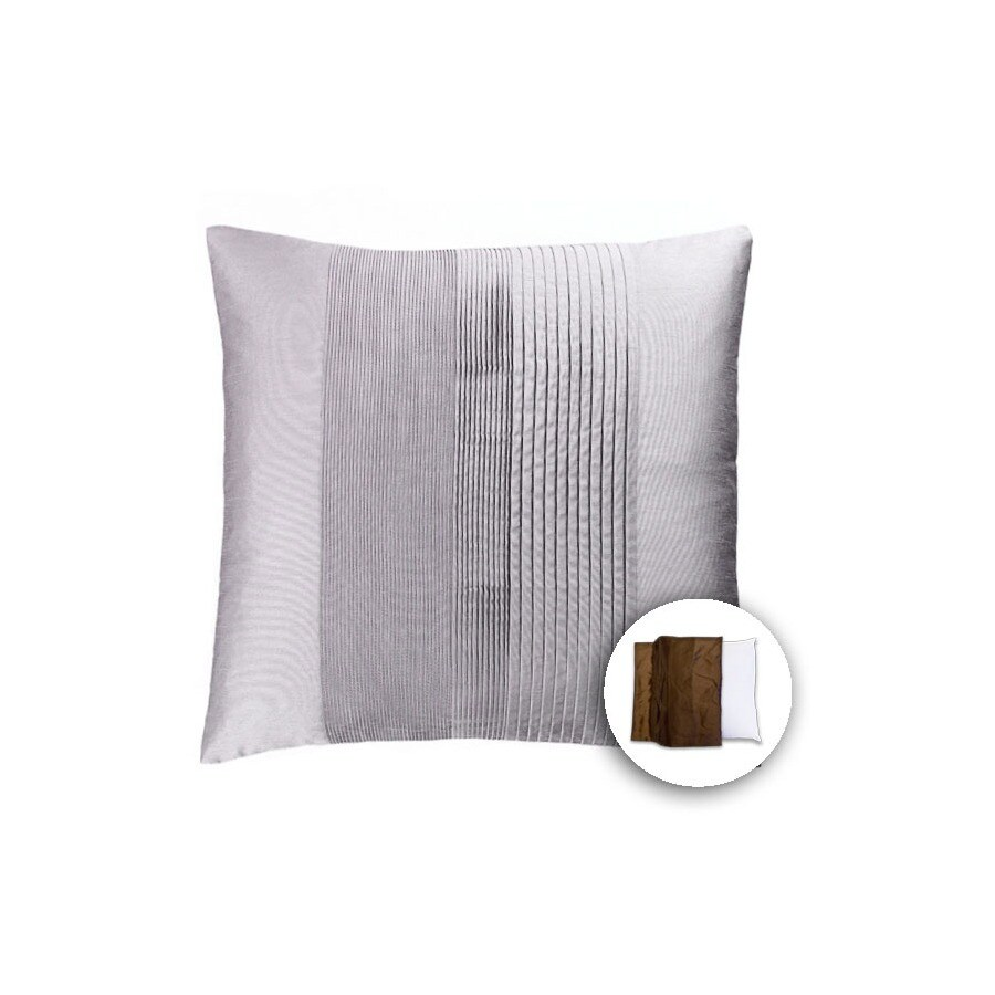 allen + roth 18-in W x 18-in L Water Square Indoor Decorative Pillow Cover