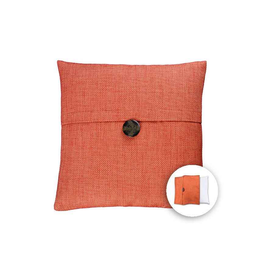 allen + roth 18-in W x 18-in L Orange Square Indoor Decorative Pillow Cover