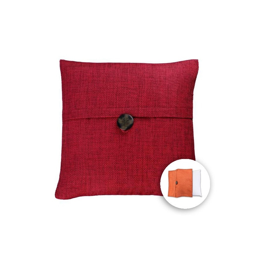 allen + roth 18-in W x 18-in L Red Square Indoor Decorative Pillow Cover