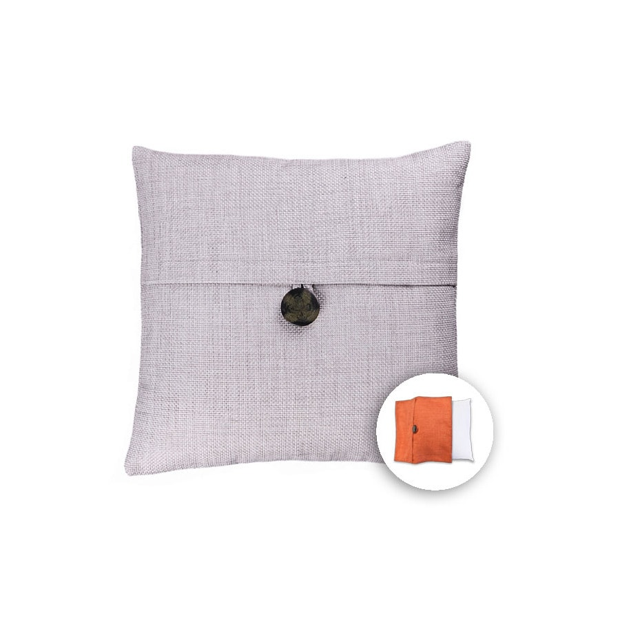 allen + roth 18-in W x 18-in L Straw Square Indoor Decorative Pillow Cover
