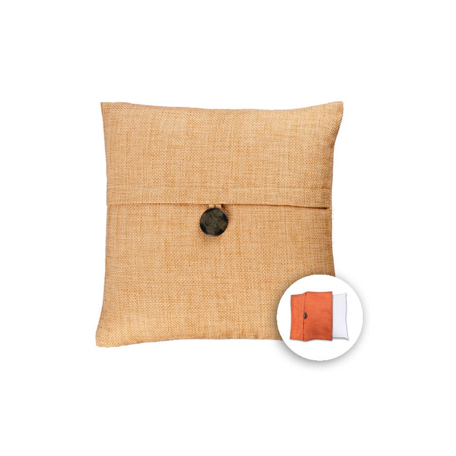 allen + roth 18-in W x 18-in L Wheat Square Indoor Decorative Pillow Cover